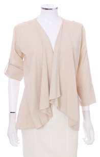 James Perse Cotton Asymmetrical Roll Up Sleeves Usa Cardigan