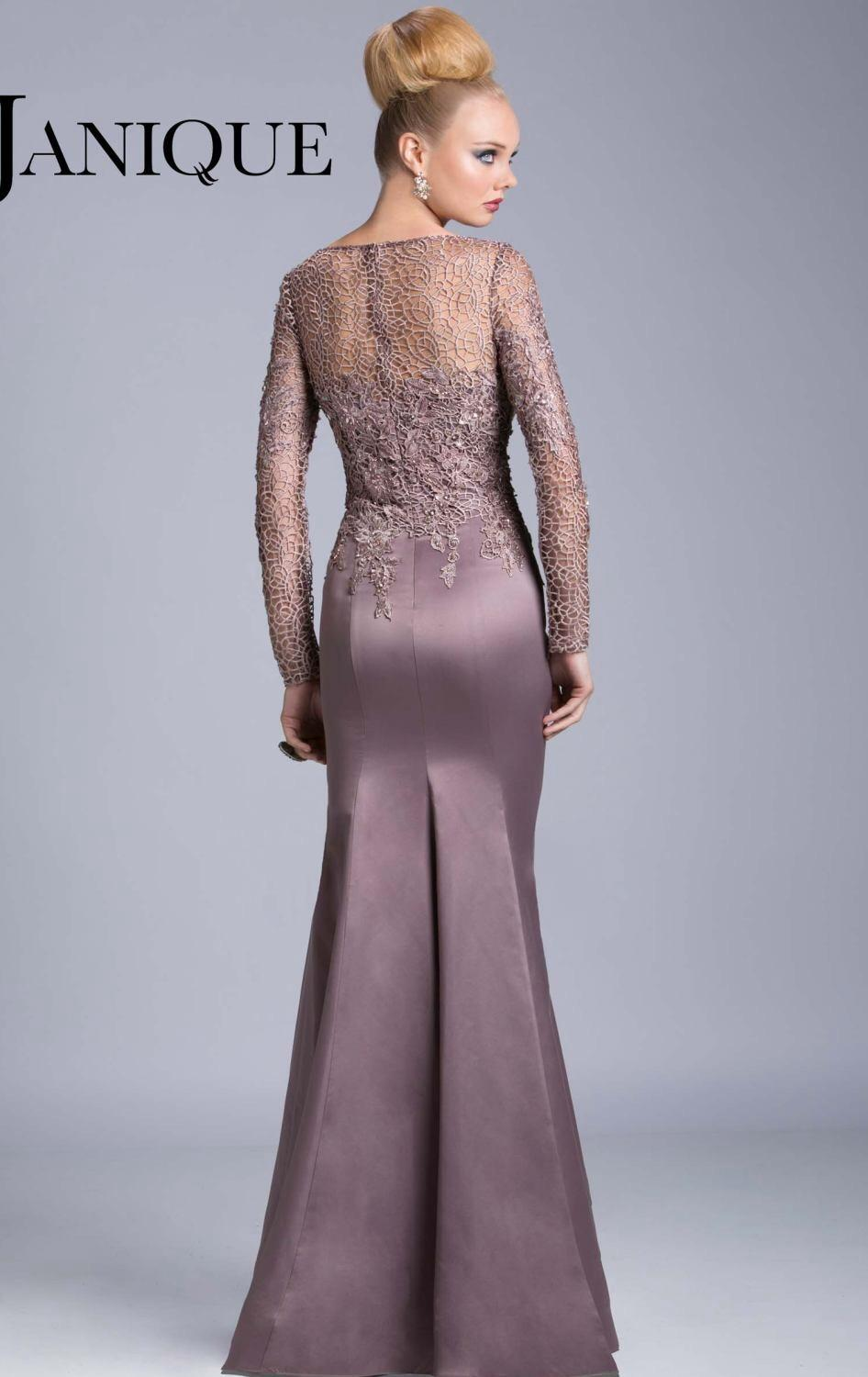 046ebdbd80ca9 Mauve Fitted Lace Backless Prom Dress 58662 - raveitsafe