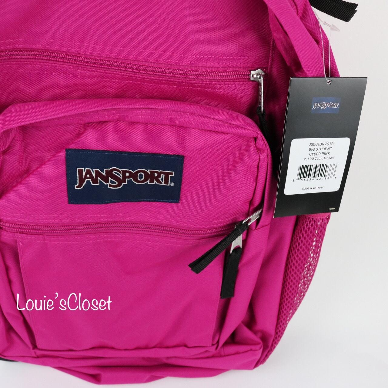 a0cfe2e768e6 Jansport cyber pink polyester big student backpack tradesy jpg 960x960 Jansport  backpack big student cyber pink
