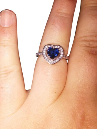 Preload https://item4.tradesy.com/images/jared-white-gold-tonesilver-blue-heart-halo-and-gemstone-ring-21629318-0-1.jpg?width=440&height=440