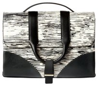 Jason Wu Leather Italian Messenger Calfskin Zebra Shoulder Bag