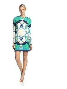 JB by Julie Brown short dress GREEN BLUE WHITE Preppy Stretchy Classic Longsleeve on Tradesy
