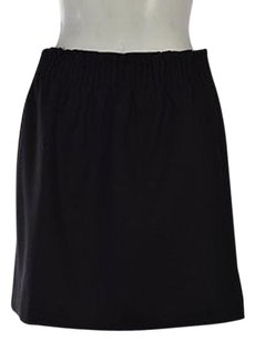 J.Crew Womens A Line Wool Above Knee Solid Elastic Casual Skirt Black
