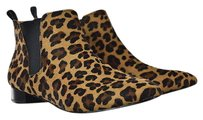 J.Crew Womens Brown Ankle Slip On Cowhide Multi-Color Boots
