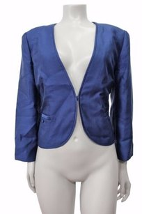 J.Crew Collection Organza Silk Wool Style 94386 Navy Jacket