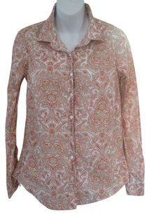 J.Crew Button Down Shirt Multicolor with floral & paisley print