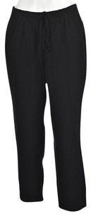 J.Crew Womens Casual Drawstring Trousers Cropped Polyester Capri/Cropped Pants Black