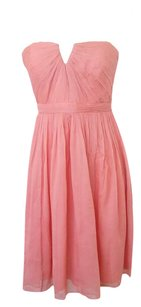 J.Crew Coral 100% Silk Strapless Dress