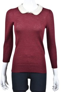 J.Crew J Crew Womens Burgundy Red Sweater