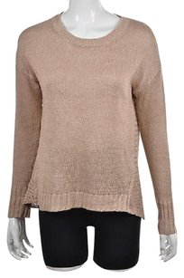 J.Crew Womens Crewneck Textured Linen Casual Shirt Sweater