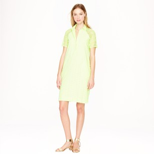 J.Crew short dress EYELET SHIRTDRESS LIME GREEN on Tradesy