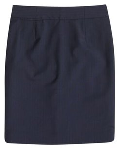 J.Crew J. Crew Wool Pinstripe Stripe Skirt Navy Blue
