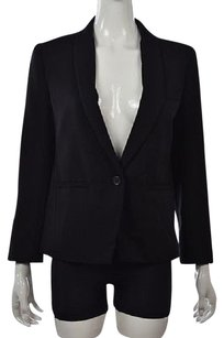 J.Crew J Crew Womens Black Textured Blazer Wool Long Sleeve Career Jacket Wtw