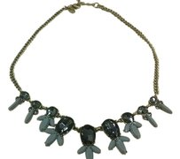 J.Crew J.Crew Goldtone Necklace with gray beads and smokey crystals
