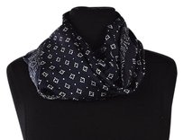 J.Crew J Crew Womens Navy Infinity Scarf Os Printed Casual