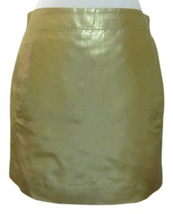 J.Crew Mini Skirt Gold