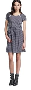 J.Crew short dress BLUE NAVY WHITE STRIPE Stretchy on Tradesy