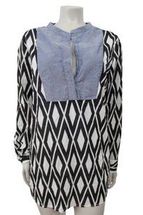 J.Crew Factory Printed Solid Bib Long Sleeves Tunic