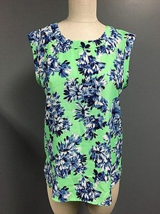 J.Crew Crew Womens Green Blue Floral Tunic