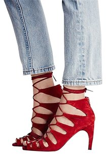 Jeffrey Campbell Free People Zara Bohemian Red Pumps