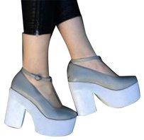 Jeffrey Campbell White and gray Platforms