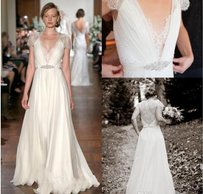 Jenny Packham Pleated Lace Wedding Dress