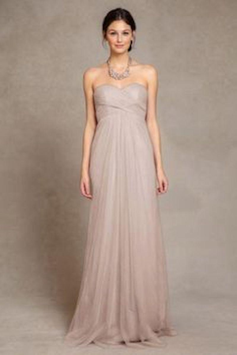 Jenny Yoo Mink Grey Annabelle Convertible Tulle Bridesmaid Gown Formal Dress