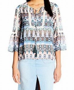 Jessica Simpson 100-polyester 3-4-sleeve Top
