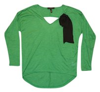 Jessica Simpson Cut-out Hi Lo Longsleeve Knit T Shirt Green