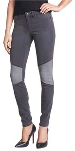 Jessica Simpson Paneled Two Toned Skinny Jeans-Light Wash