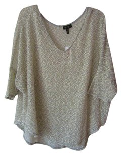 Jessica Simpson Slouch Gold Gray Knit Tunic
