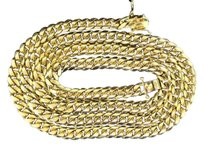 Other 10k Solid Heavy 8.62mm Yellow Gold Miami Cuban Link Chain Necklace Inch 189g