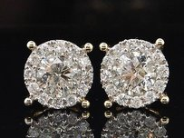 Jewelry For Less 10k Yellow Gold 2.95ct Solitaire Diamond Earrings Studs