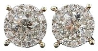 10k Yellow Gold 2.95ct Solitaire Diamond Earrings Studs