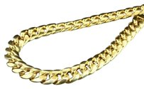 10k Yellow Gold Miami Cuban Semi Hollow 12.50mm Wide Chain 34 Necklace