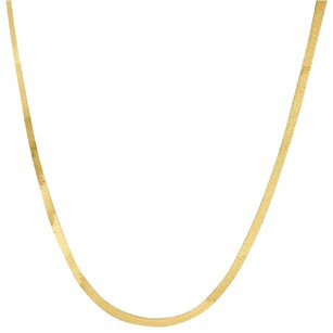 10k Yellow Gold Solid Necklace Silky Herringbone 2.75mm Chain - Inches