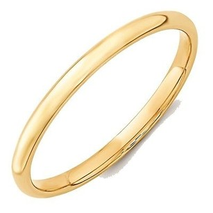 Jewelry For Less 2mm 10k Yellow Gold Comfort Fit Or Half Round Wedding Ring Band 5-13