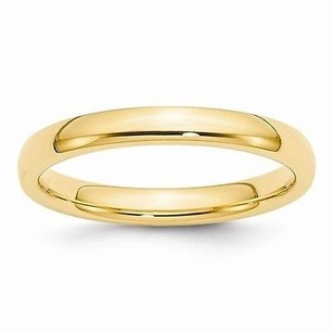 3mm 10k Yellow Gold Comfort Fit Or Half Round Wedding Ring Band 5-13