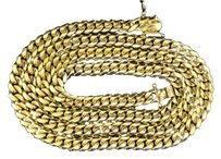 10k,Solid,Heavy,8.62mm,Yellow,Gold,Miami,Cuban,Link,Chain,Necklace,36,Inch,189g