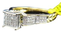 Ladies,10k,Yellow,Gold,Round,Cut,Diamond,Engagement,Fashion,Cocktail,Pave,Ring