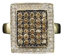 Yellow,Gold,Brown,Champagne,Cognac,Round,Diamond,Square,Fashion,Cocktail,Ring