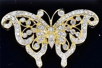 Jewelry For Less Diamond Butterfly Slide Pendant 14k Yellow Gold 0.50 Ct Ladies Animal Charm