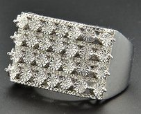 Jewelry For Less Diamond Pinky Ring .925 Sterling Silver Round Fanook Band 0.35 Ct.