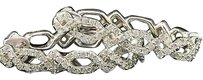 Diamond,Infinity,Hoops,Ladies,10k,White,Gold,Pave,Round,Cut,Earrings,0.52,Tcw.