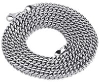 Jewelry For Less Real 10k White Gold 3d Hollow Franco Box Link Chain 5.50mm Necklace 26-40 Inches