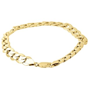 Mens Real 10k Yellow Gold Hollow Cuban Curb Link 8mm Bracelet 8 9