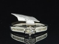 Solitaire Diamond Engagement Ring 14k White Gold Round Princess Cut Band 14 Tcw