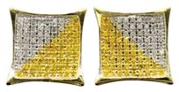 Yellow,Diamond,Studs,10k,Yellow,Gold,0.50,Ct,Pave,Pointed,Kite,Shaped,Earrings