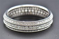 Eternity Diamond Wedding Band 10k White Gold Round Cut Ladies Prong Ring 1 Ct