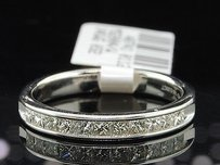 14k White Gold Princess Cut Diamond Wedding Band Anniversary Ring 12 Cttw